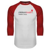 White/Red Raglan Baseball T Shirt-Pediatric Group