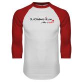 White/Red Raglan Baseball T Shirt-Our Childrens House
