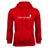Red Fleece Hoodie-Childrens Health Logo