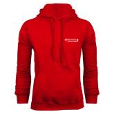 Red Fleece Hoodie-Andrews Institute Logo