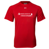 Under Armour Red Tech Tee-Andrews Institute Logo