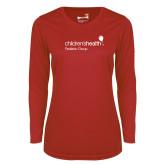 Ladies Syntrel Performance Red Longsleeve Shirt-Pediatric Group