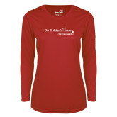 Ladies Syntrel Performance Red Longsleeve Shirt-Our Childrens House