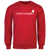 Red Fleece Crew-Childrens Health Logo