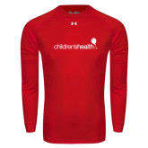 Under Armour Red Long Sleeve Tech Tee-Childrens Health Logo