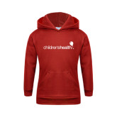 Youth Red Fleece Hoodie-Childrens Health Logo