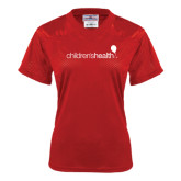 Ladies Red Replica Football Jersey-Children's Health