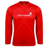 Performance Red Longsleeve Shirt-Childrens Health Logo