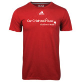 Adidas Climalite Red Ultimate Performance Tee-Our Childrens House