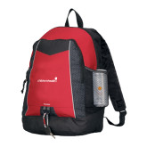 Impulse Red Backpack-Childrens Health Logo
