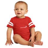 Vintage Red Jersey Onesie-Childrens Health Logo