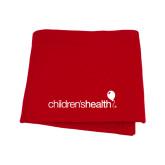 Red Sweatshirt Blanket-Childrens Health Logo