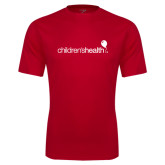 Performance Red Tee-Childrens Health Logo