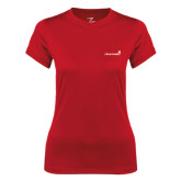 Ladies Syntrel Performance Red Tee-Childrens Health Logo