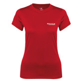 Ladies Syntrel Performance Red Tee-Andrews Institute Logo