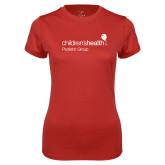 Ladies Syntrel Performance Red Tee-Pediatric Group