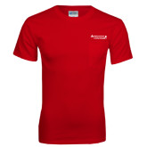 Red T Shirt w/Pocket-Andrews Institute Logo
