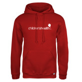 Russell DriPower Red Fleece Hoodie-Childrens Health Logo