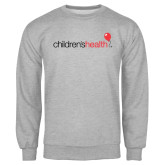 Grey Fleece Crew-Childrens Health Logo