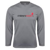 Performance Steel Longsleeve Shirt-Childrens Health Logo