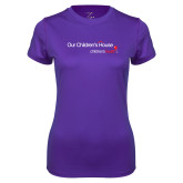 Ladies Syntrel Performance Purple Tee-Our Childrens House