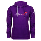 Adidas Climawarm Purple Team Issue Hoodie-Childrens Health Logo