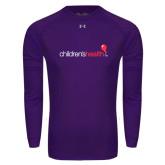 Under Armour Purple Long Sleeve Tech Tee-Childrens Health Logo