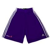 Adidas Climalite Purple Practice Short-Childrens Health Logo