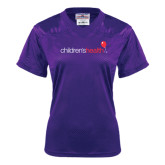Ladies Purple Replica Football Jersey-Children's Health
