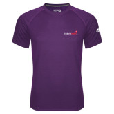 Adidas Climalite Purple Ultimate Performance Tee-Childrens Health Logo