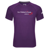 Adidas Climalite Purple Ultimate Performance Tee-Our Childrens House