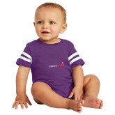 Vintage Purple Jersey Onesie-Childrens Health Logo
