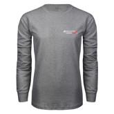 Grey Long Sleeve T Shirt-Andrews Institute Logo