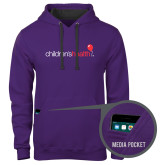 Contemporary Sofspun Purple Hoodie-Childrens Health Logo