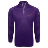 Under Armour Purple Tech 1/4 Zip Performance Shirt-Childrens Health Logo