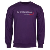 Purple Fleece Crew-Our Childrens House
