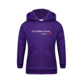 Youth Purple Fleece Hoodie-Our Childrens House