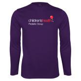 Performance Purple Longsleeve Shirt-Pediatric Group