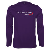 Performance Purple Longsleeve Shirt-Our Childrens House