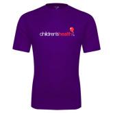 Performance Purple Tee-Childrens Health Logo