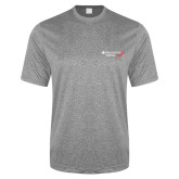 Performance Grey Heather Contender Tee-Andrews Institute Logo