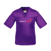 Youth Replica Purple Football Jersey-Children's Health