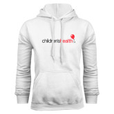 White Fleece Hoodie-Childrens Health Logo