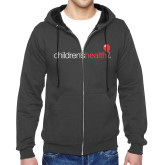 Charcoal Fleece Full Zip Hoodie-Childrens Health Logo