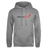 Russell DriPower Grey Fleece Hoodie-Childrens Health Logo