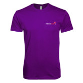 Next Level SoftStyle Purple T Shirt-Childrens Health Logo