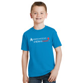 Youth Sapphire T Shirt-Andrews Institute Logo