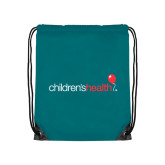 Teal Drawstring Backpack-Childrens Health Logo