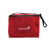 Six Pack Red Cooler-Childrens Health Logo
