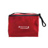 Six Pack Red Cooler-Andrews Institute Logo